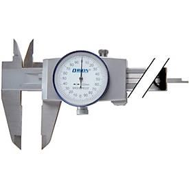 Messschieber mit Rundskale 150 mm 0,02 mm im Etui