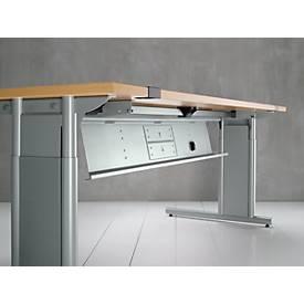 Metallkabelkanal, für alle Schreibtischformen