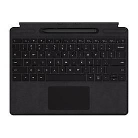 Microsoft Surface Pro X Signature Keyboard with Slim Pen Bundle - Tastatur - mit Trackpad - Deutsch - Schwarz