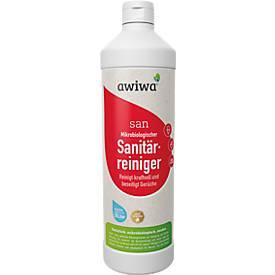 Mikrobiologischer Sanitärreiniger awiwa® san, tiefenwirksam, kalkhemmend, pH-neutral, 1 l