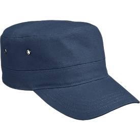 Military Cap, 100 % Baumwoll-Canvas, mit Klettverschluss, Werbefläche 60 x 20 mm, navy