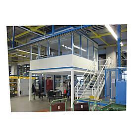 Mobiler Raum, L 1045 x B 1045 mm, für Innenaufstellung