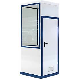 Mobiles Raumsystem WSM, L 1045 x B 1045 mm, für Innen, ohne Fußboden, grauweiß RAL 9002/enzianblau RAL 5010