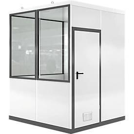 Mobiles Raumsystem WSM, L 2045 x B 2045 mm, für Außenaufstellung, mit Fußboden, grauweiß RAL 9002/ anthr.grau RAL 7016
