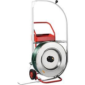 Mobiles Umreifungsgerät Palstrap Comfort, für Bänder aus PP & PET, mit Durchschiebehilfe, Stahlrohr
