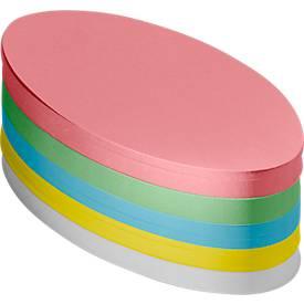 Moderationskarten-Block, oval