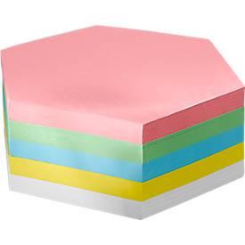 Moderationskarten-Block, Wabe, 190 x 190 mm