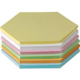 Moderationskarten, wabenförmig, Kantenlänge 95 mm, 250 Stück