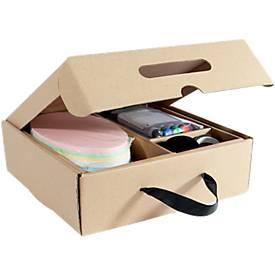 Moderationskoffer Sigel Business für Pinboards, Kartonbox, L 240 x B 360 x H 80 mm, mit Tragegriff