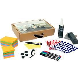 Moderationskoffer Sigel Business für Whiteboards, Kartonbox, L 235 x B 385 x H 80 mm, mit Tragegriff