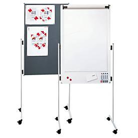 Moderationstafel Franken ECO, Hochformat, B 750 x H 1200 mm, multifunktional, beidseitig, magnethaftend
