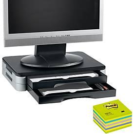 Monitor-/Printer-Stand + Post-it® Würfel neongrün 76x76 mm, GRATIS