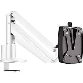 Monitorarm Novus CLU I C, für 1 Monitor bis 7 kg, mit Tischbefestigung, neig/schwenk/höhenverstellbar, weiß