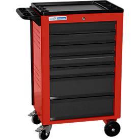Montagewagen BASIC, 7 schuifladen, rood