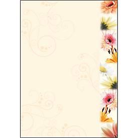 Motivpapier Flowerstyle, DIN A4, 90g, 50 Blatt