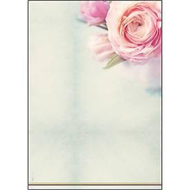 Motivpapier Rose Garden DIN A4, 90g, 50 Blatt