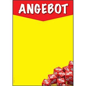 Motivpapier Sigel Angebot, A4, 90 g/m², rot-gelb mit Schriftzug, 50 Blatt