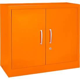 MS iCOLOUR vleugeldeurkast, staal, 2 OH, b 950 x d 400 mm x h 865 mm, oranje RAL 2004