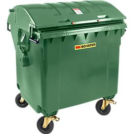 Müllcontainer MGB 1100 RD, Kunststoff, Runddeckel, 1100 l, grün