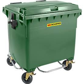 Müllcontainer MGB 660 FDP, Kunststoff, 660 l, grün