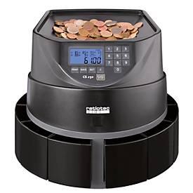 Münzzähler Ratiotec Coinsorter CS250, zählt & sortiert bis zu 550 Euromünzen/min, mit Bündelfunktion