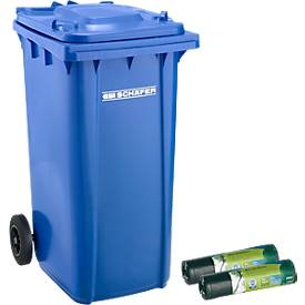 Mülltonne GMT, 240 l, fahrbar + Schwerlast- Abfallsäcke, gratis