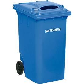 Mülltonne GMT, 360 l, fahrbar, mit Einwurf, blau