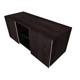 Multicontainer SOLUS PLAY, 2 Schiebetüren, 2 offene Fächer, grifflos, B 1350 x T 523 x H 583 mm