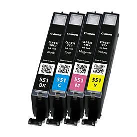 Multipack 4 Stück Canon Tintenpatrone CLI-551 cyan/magenta/gelb/schwarz