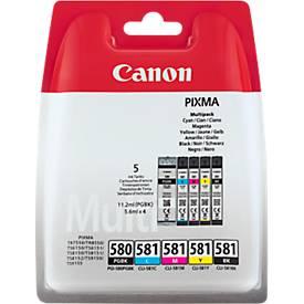 Multipack 4 Stück Canon Tintenpatrone PGI-580/CLI-581 C/M/Y/K