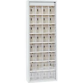 MultiStore Magazinschrank, 32 Behälter, lichtgrau