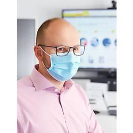 Mund-Nasen-Schutz, 3-lagig, verstellbarer Nasenbügel, 50 Stück