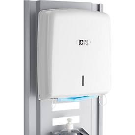 Mundschutz/Handtuchspender für modulare Hygienestation Basic, Sichtfenster, mit Adapter, B 280 x T 135 x H 365 mm