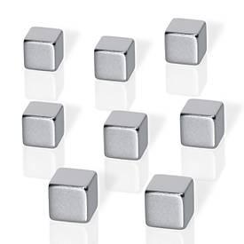 Neodym-Magnete, Form quadratisch, f. Glas-Magnettafeln, 8 Stück