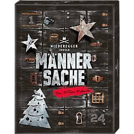 Niederegger Adventskalender Männersache, 5-fach sortiert, 300 g