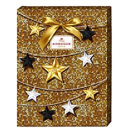 Niederegger Adventskalender Merry Christmas, vielfältig gefüllt, Paillettendesign