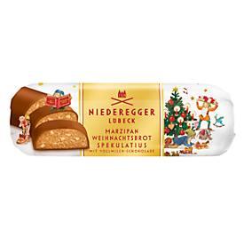 Niederegger Weihnachtsbrot Spekulatius, Marzipan + Spekulatius-Stücke, überz., 125 g