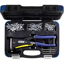 Nietzange Rapid RP40 MULTI™, für Nieten mit 3,2/4,0/4,8 mm, inkl. Messwerkzeug, 3 Bohrer, 150 Nieten