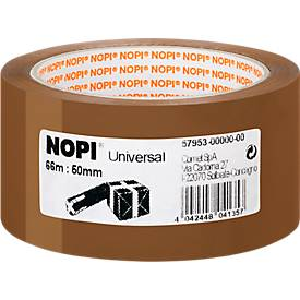 NOPI Packband Universal, 66 m x 50 mm, braun