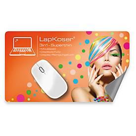 Notebookpad Superthin 3 in 1 LapKoser®, Microfaser und RDX-Beschichtung, 2 Größen