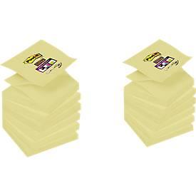 Notes adhésives 3M Post-it® SuperSticky Z-Notes R330SP12, 76x76 mm, 6 blocs + 6 blocs GRATUITS