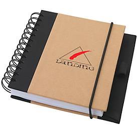 Notizbuch Evolution, DIN A6, 100 linierte Blätter, mit Gummibandverschluss