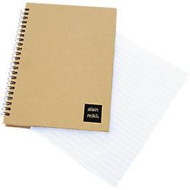 Notizbuch Gulliver, 80 Seiten liniert & perforiert, Spiralbindung, natur
