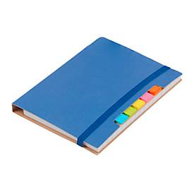 Notizbuch Penz, inkl. Schreibblock 70 Blatt liniert, Haftnotizen & Kugelschreiber, blau