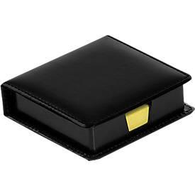 Notizzettelboxspender, mit 100 Haftnotizen in 75 x 75 mm, schwarz