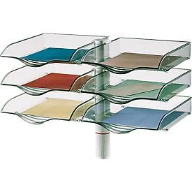 Novus Ablagekorb CopySwinger Duo, 2 x 3 Kästen, B4-Format, Säulensystem, lichtgrau