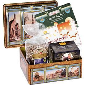 Nürnberger Schatzkästchen, gefüllt mit Weihnachtsgebäck, ohne Alkohol, Inhalt 650 g