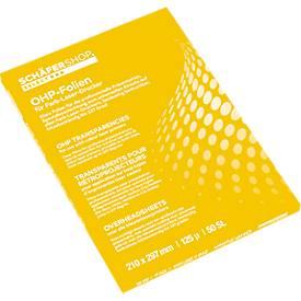OHP-sheets voor zwart-wit kopieerapparaten, 100 stuks