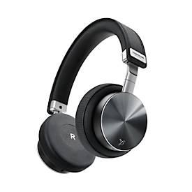 On-Ear Kopfhörer Vonmählen Wireless Concert One, Bluetooth, 90° faltbar/180° rotierbar, Aluminium/Echtleder, schwarz