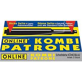 ONLINE® Kombi-Tintenpatrone, 5 Stück, königsblau